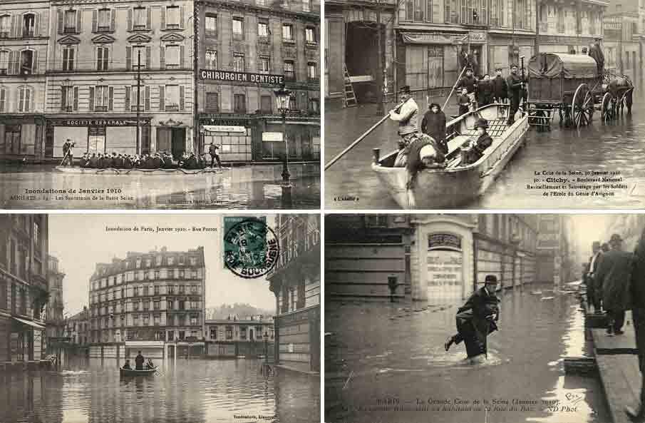 Inondation, Paris, 1910, la grande crue de la seine