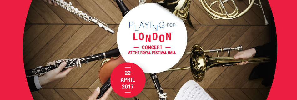Playing for London - Concert at the Royal Festival Hall - 22 April 2017