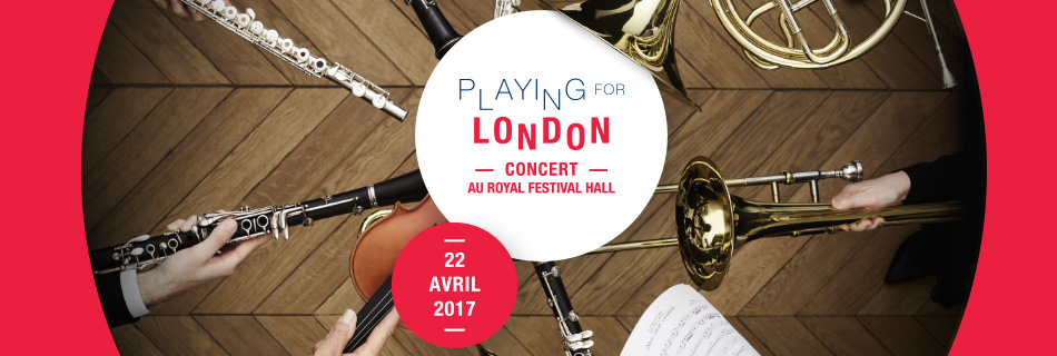 Playing for London - Concert au Royal Festival Hall - 22 avril 2017