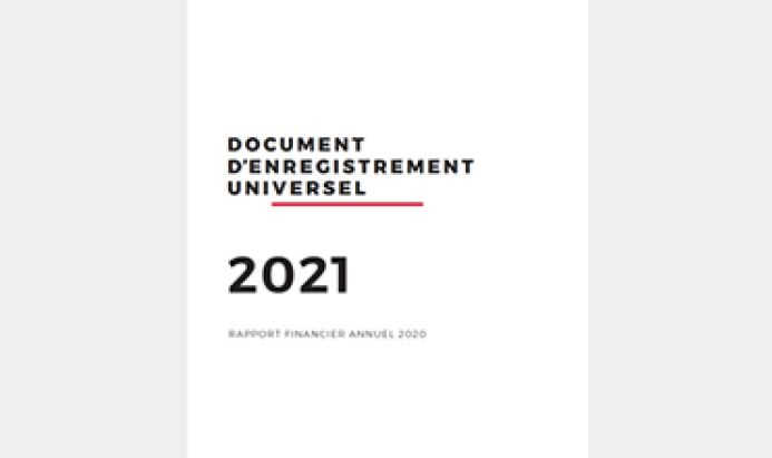Couverture du Document d'enregistrement universel 2021